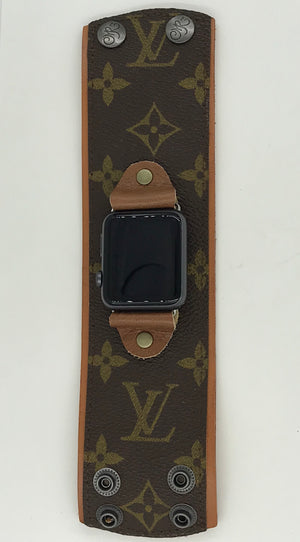 Upcycled Louis Vuitton Apple Watch Band - Large