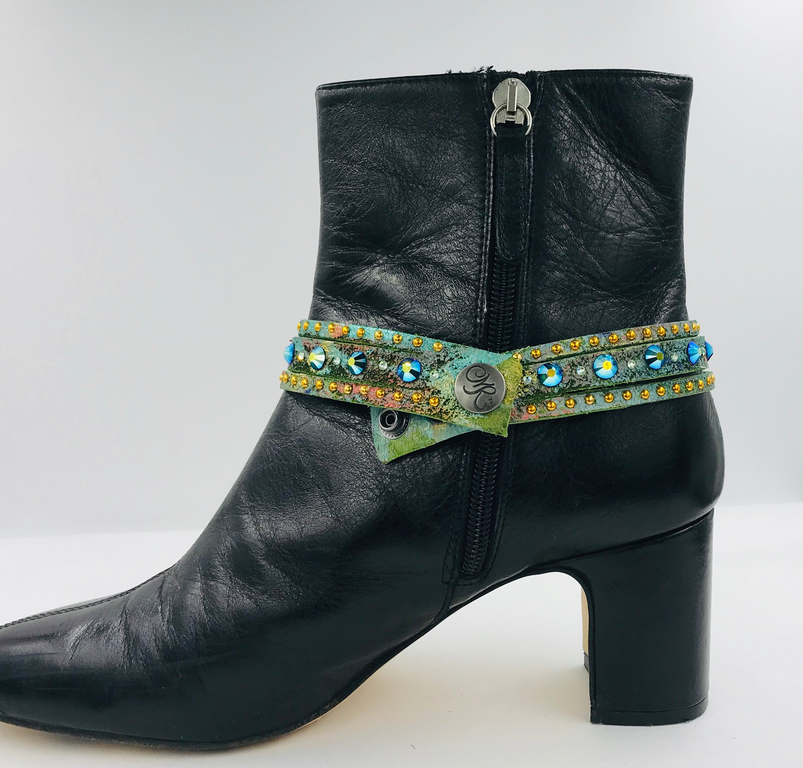 "Big Stone Triple Treat Bracelet/Choker/Boot Cuff - ""The Caribbean"""