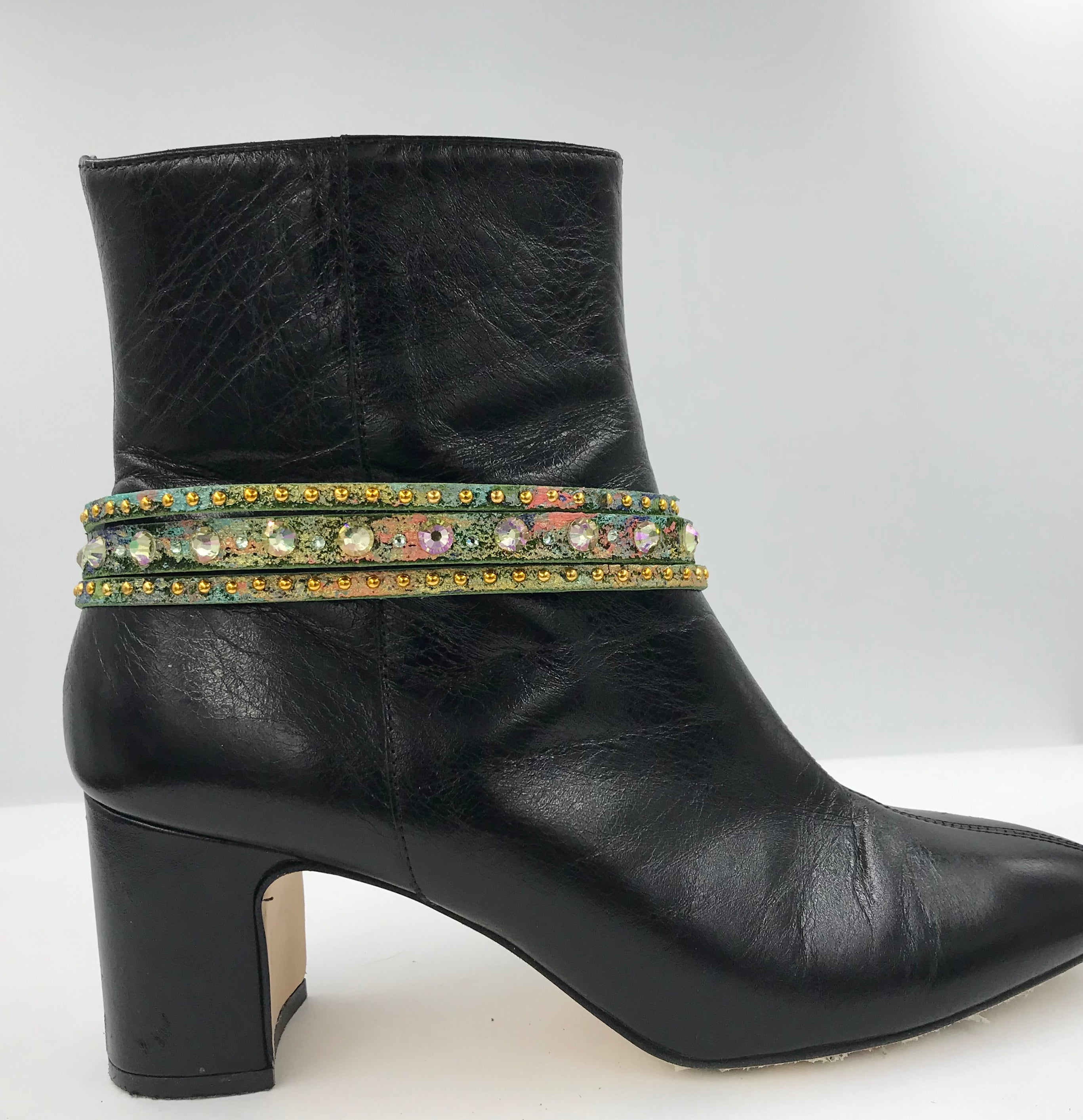 "Big Stone Triple Treat - Bracelet/Choker/Boot Cuff - ""Summer Romance"""