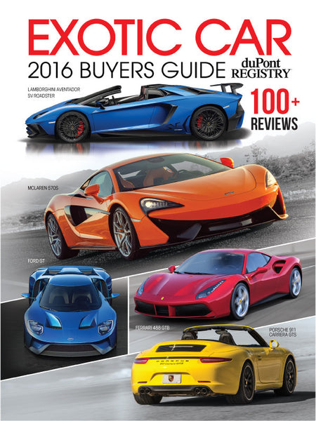 duPont REGISTRY Exotic Car Buyers Guide 2016