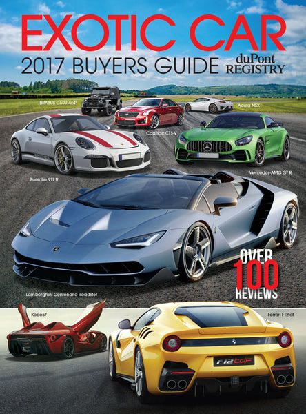 duPont REGISTRY Exotic Car Buyers Guide 2017