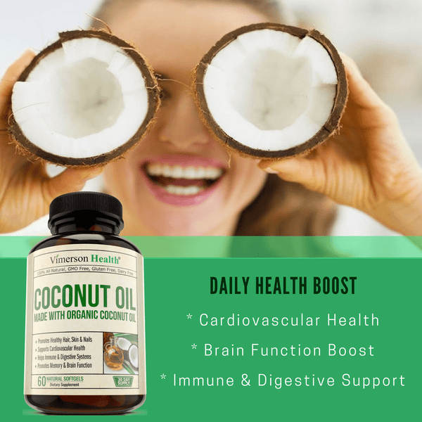 Coconut Oil Supplement, made from Organic Coconut Oil