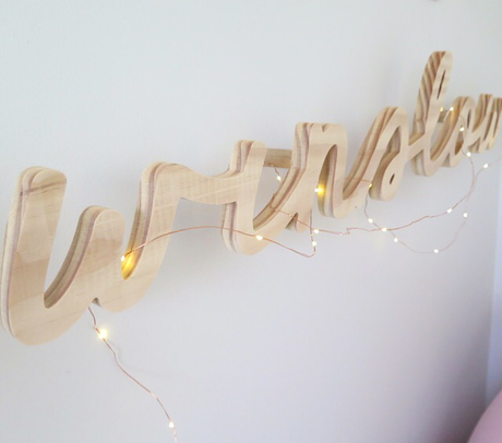 CUSTOM Timber Name Wall Mount