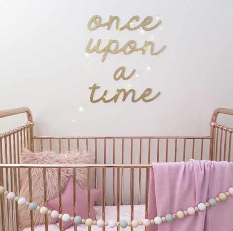 ONCE UPON A TIME Metallic Wall Mount