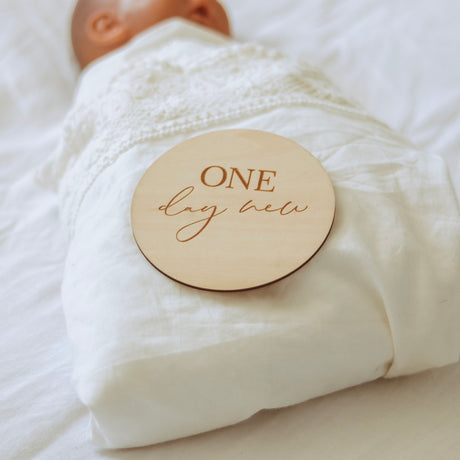 Birth-One Year Milestone Plaques