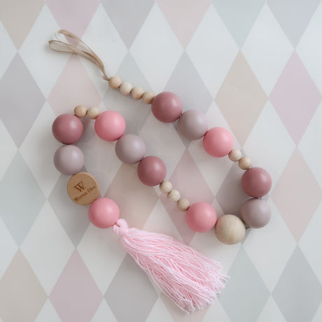 Dusty Pink Beaded Mobile