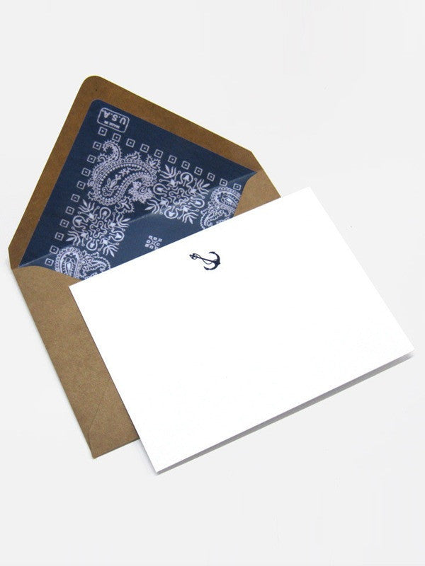 Terrapin - Navy Anchor Card/Envelope set of 6