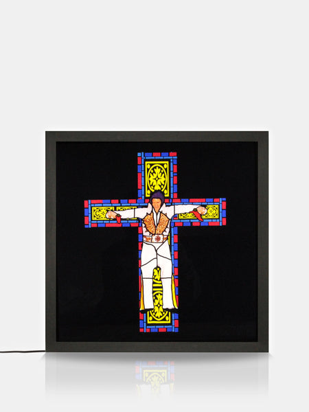 Illumination House Elvis Stained Glass Print Light Box