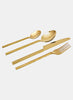 Titanium Cutlery Gold - set of 4