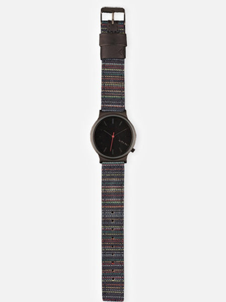Komono Wizard Print Stripy Jeans Watch