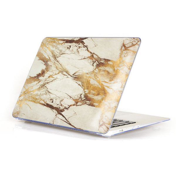 Marble Matte Hard Case Cover For Macbook - Brown/Tong