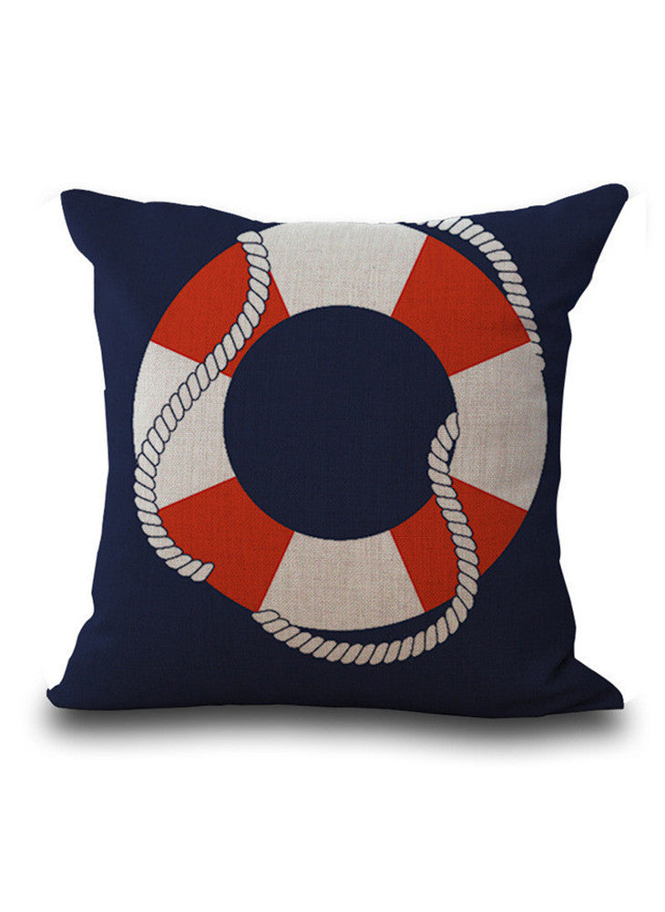 Sailing Life Ring Pillow Case