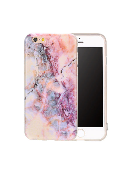 Marble Case For iPhone 7 6 6s Plus  - Purple