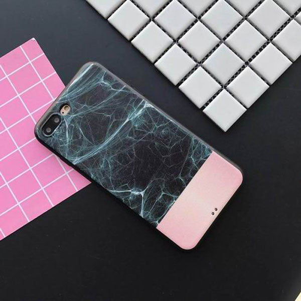 Marble Soft TPU Matte Cover For iPhone 7 6 6S Plus - Marble