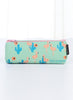 Green Flamingo Pencil Bag