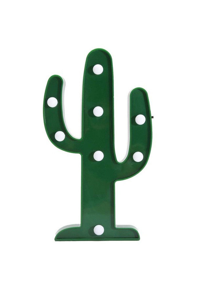 Green Cactus LED Night Light