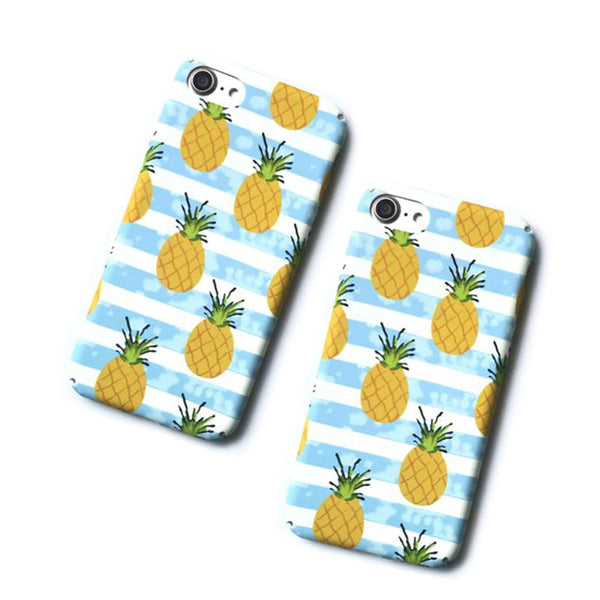 Lack Pineapple Phone Case For iPhone 6 6s 7 7 Plus