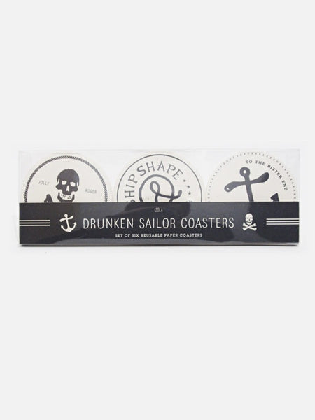 Maritime Set of 6 Reusable Coasters