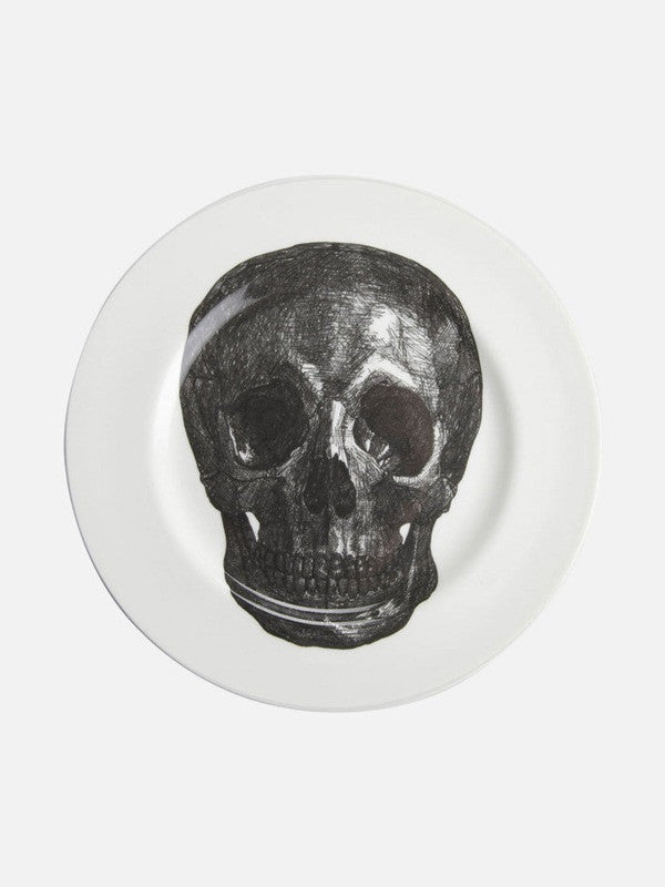 Phoebe Richardson Bone China Skull Dinner Plate