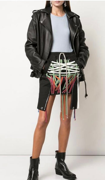 Tie String Hi Low Skirt