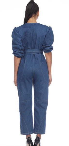 Denim Straight Leg One Piece