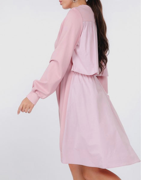 Tiered Back Pullover Dress