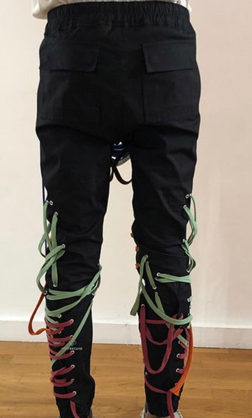 Multicolored Tie String Pants