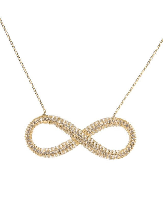 Zirconia cubic jewerly initial Infinity Name necklace silver 925