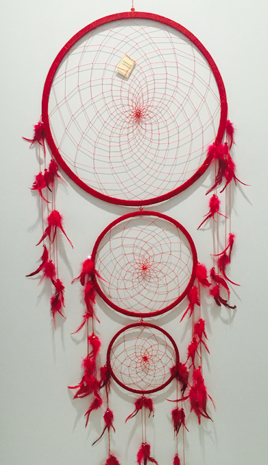 One of A Kind Red Big Dreamcatcher