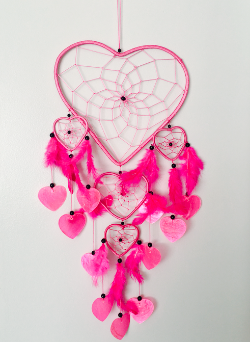 One Of A kind Heart Pink Dreamcatcher