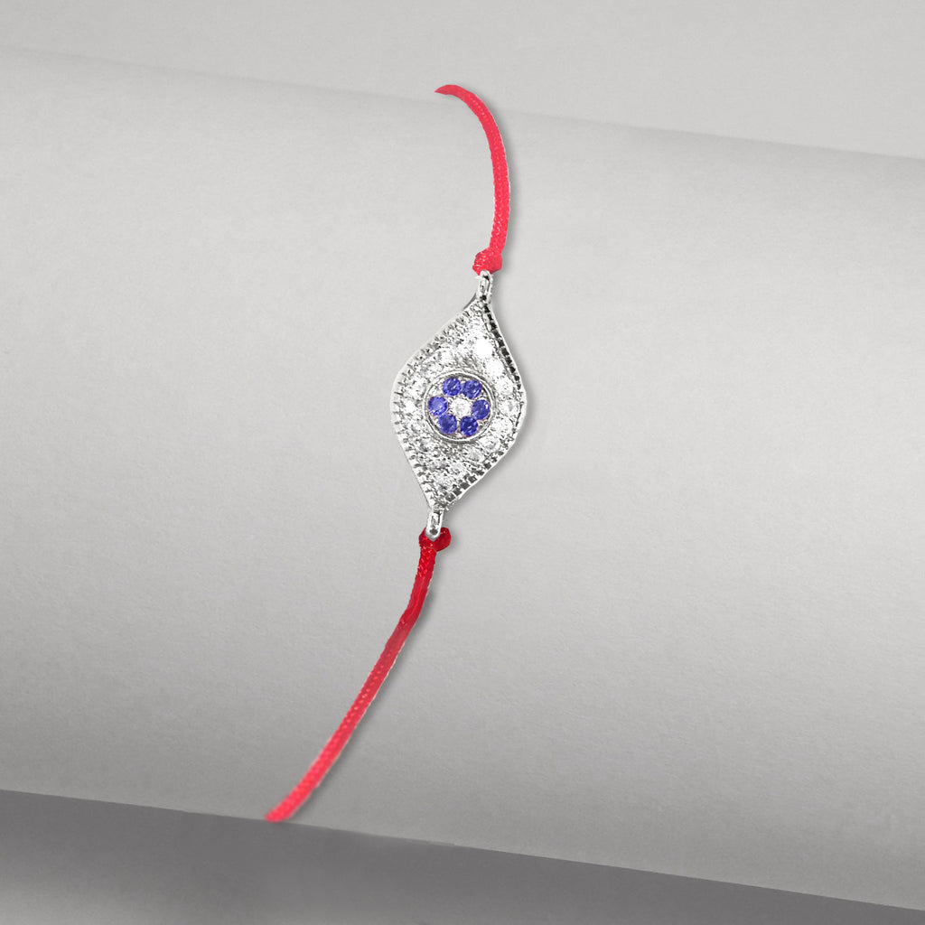 evil eye rose fine red over bracelet gold bracelets silver sterling jewelry