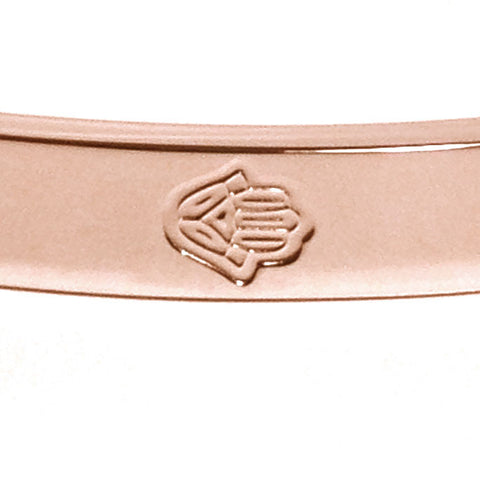 Rose Gold-Tone Stainless Steel 6 Hamsa Bangle Bracelet