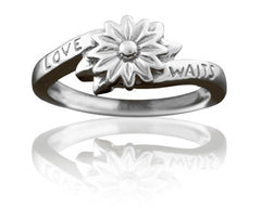 Girl's Love Waits Flower Purity Ring