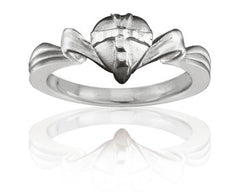 Girl's Gift Wrapped Heart Purity Ring