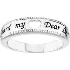 "Girl's ""Guard My Heart Dear Lord"" Purity Ring"