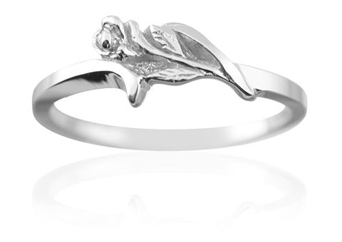 Purity Ring for Girls Devoted Rose in Sterling Silver - PurityRings.com