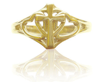 Covenant Hearts Christian Purity Ring in 14K Yellow Gold - PurityRings.com