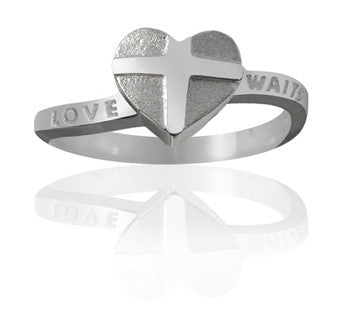Girls Purity Ring - Everlasting Heart in Sterling Silver - PurityRings.com