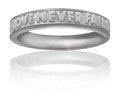"Girls Purity Ring ""LOVE NEVER FAILS"" in Silver - PurityRings.com"