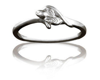 Girls Purity Ring - Unblossomed Rose in 14K White Gold - PurityRings.com