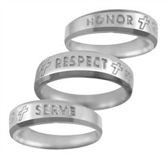 Purity Ring for Guys - HONOR + RESPECT + SERVE - PurityRings.com
