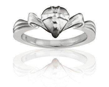 Purity Ring - Girls 14K White Gold Gift-Wrapped Heart - PurityRings.com