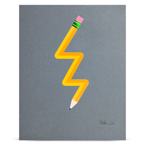 "Pencil Me In ""Lightning"" print"