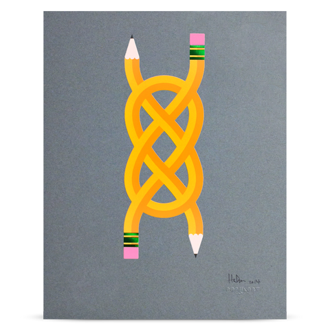 "Pencil Me In ""Knot"" print"