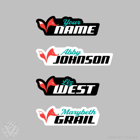 Team Vixxen Name Stickers -10 pack