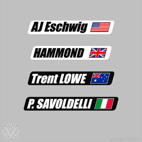Name with Country Flag-10 pack