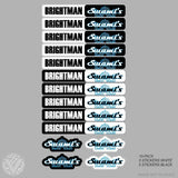 Team Swami's Name Stickers-10 pack