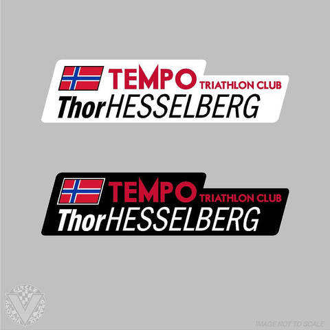 Team Tempo Triathlon Name Stickers -10 pack