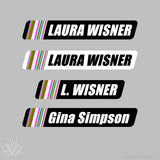 Team Ten20 Cycling Name Stickers-10 pack