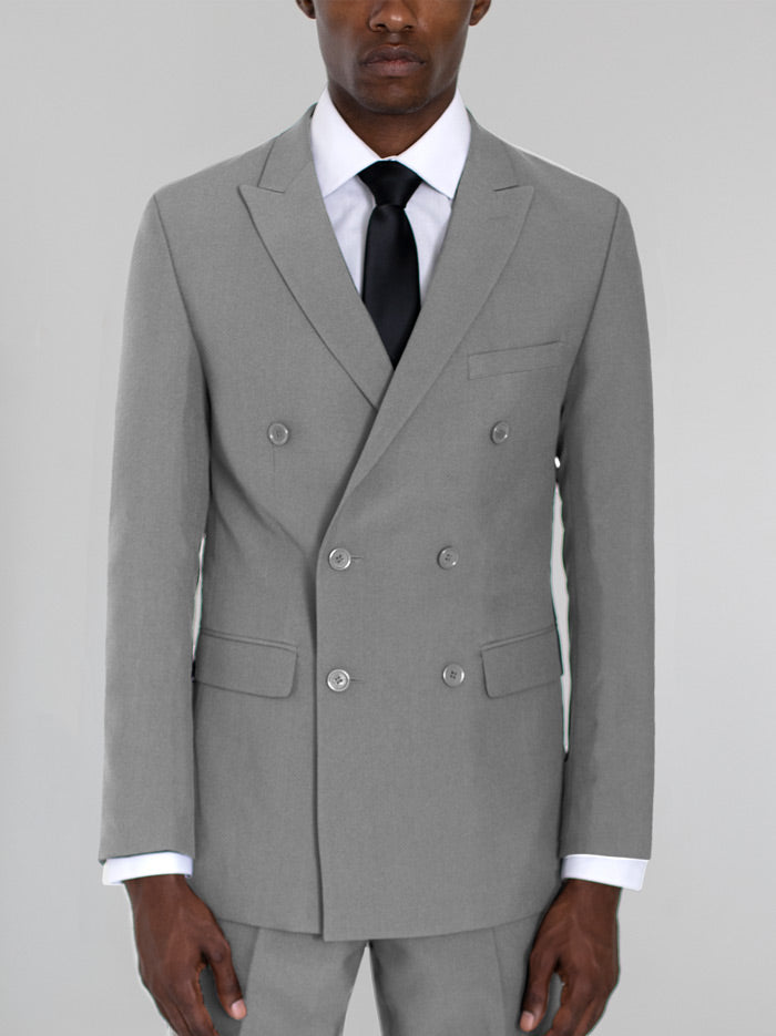 Light Grey Double Breasted Suit